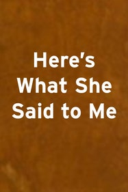 Here's What She Said To Me Tickets London - at Arcola Theatre   Thespie