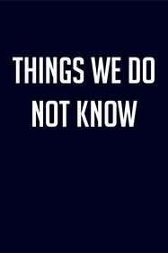 Things We Do Not Know Tickets London - at Camden People's Theatre | Thespie